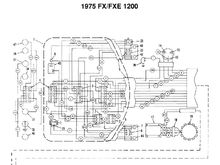 1975 FX/FXE 1200 Wiring Diagram 1