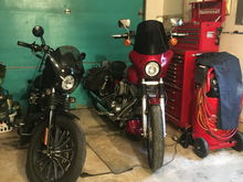 My wife's sportster has an original Memphis shade fairing my Dyna has the modified one.