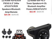 You want 439.99$ Kicker speakers only 32.99$. Shipping woukd cost more that that if thry really were sending from the UK.