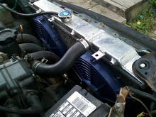 new radiator with sum thin fans need to keep her cool