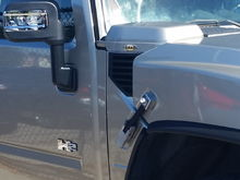 Mirrors body shop installed. Different design. No heat..Ice does not melt off the mirror glass. Even used infrared to check and nothing. I see both styles on other hummers and a friend has the same mirrors that I had.