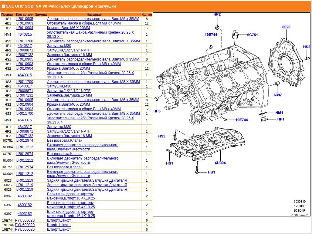 50 S C Engine Rebuild Page 4 Jaguar Forums Enthusiasts Block Diagram That Shows The Part Number As Lr012974 But I Cant Find Any Reference To This Beyond Links Site Sc From Same Website