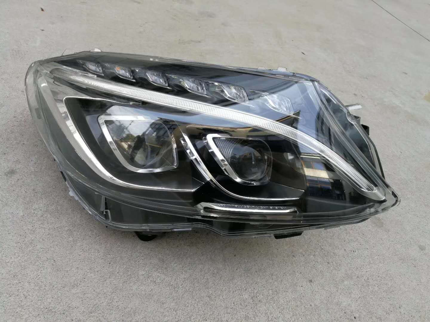 W205 Halogen to Dual LED, Plug & Play Project Done - MBWorld
