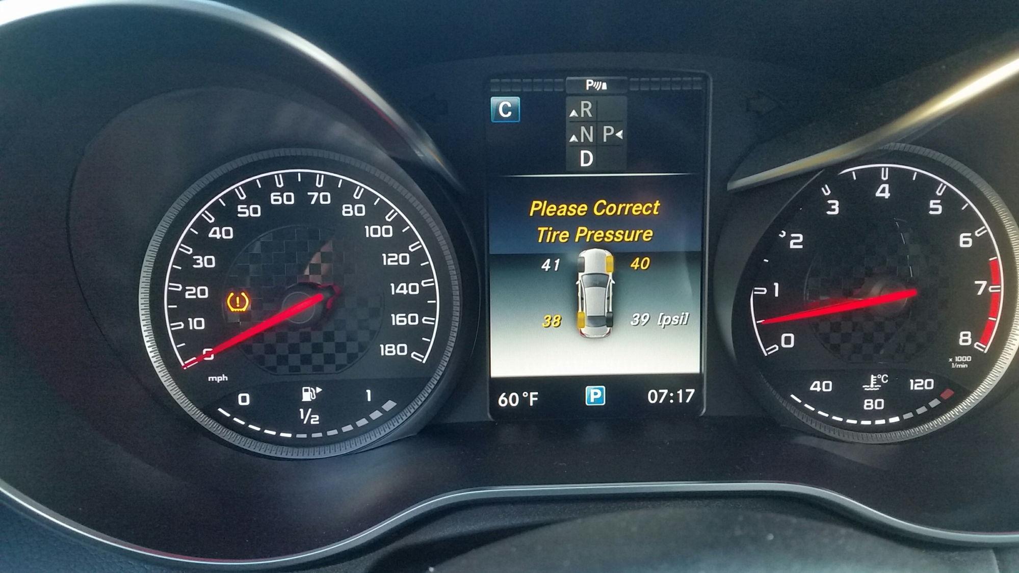 Mercedes benz c300 tire pressure sensor fiat world test for Mercedes benz c300 tire pressure