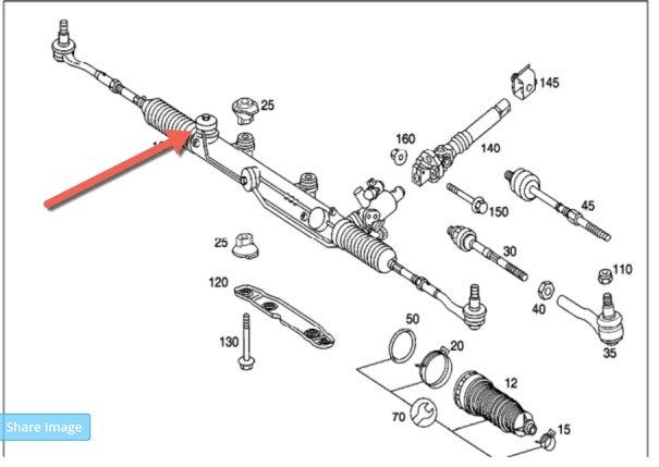 2001 c320 steering rack leaking forums for Mercedes benz ml320 power steering fluid