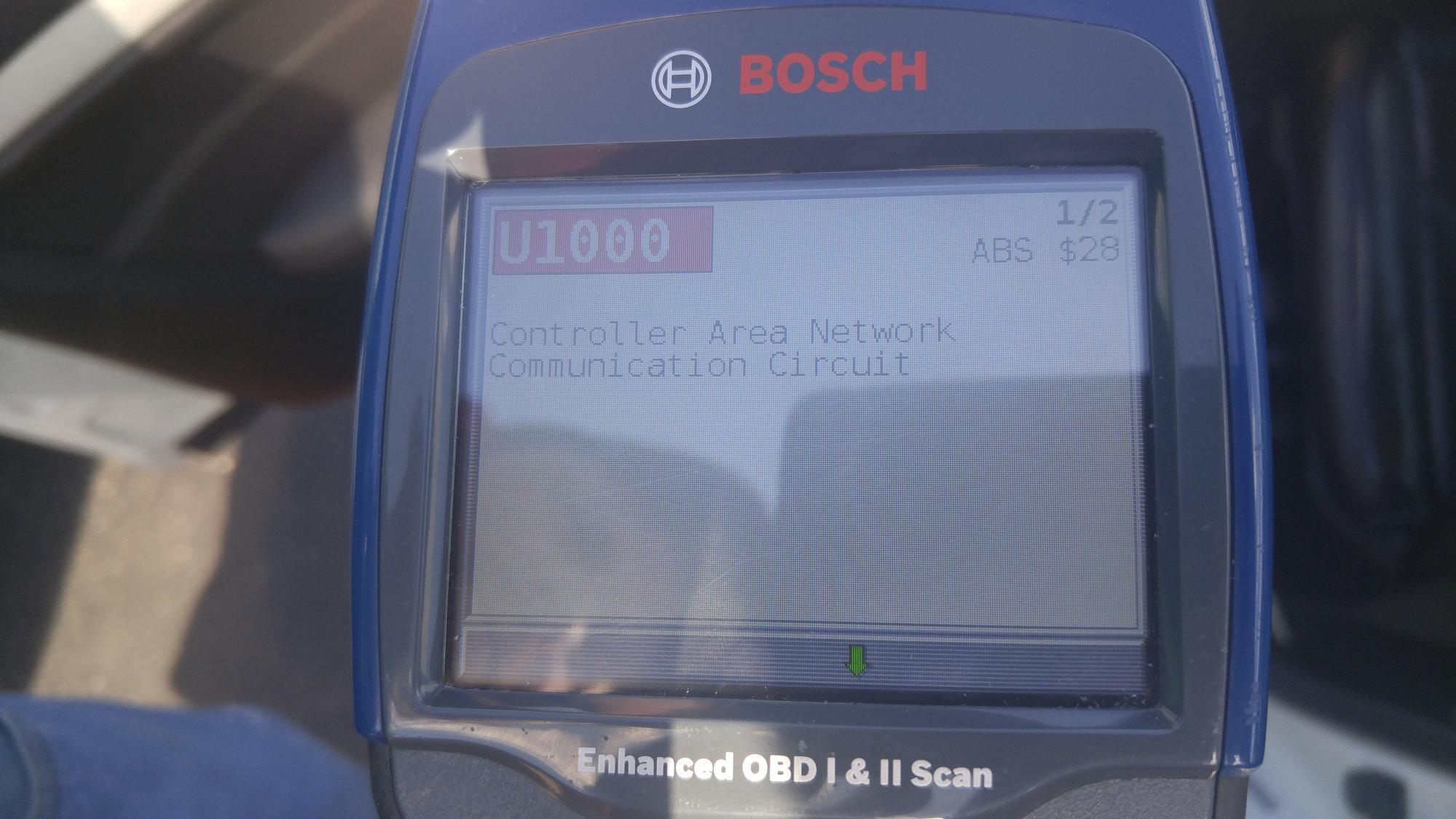 VDC & SLIP ON Codes U1000 & U1001 - MyG37