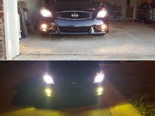 Top - before Bottom - after..I like it so far. I went with the LED bulbs (3000k film)