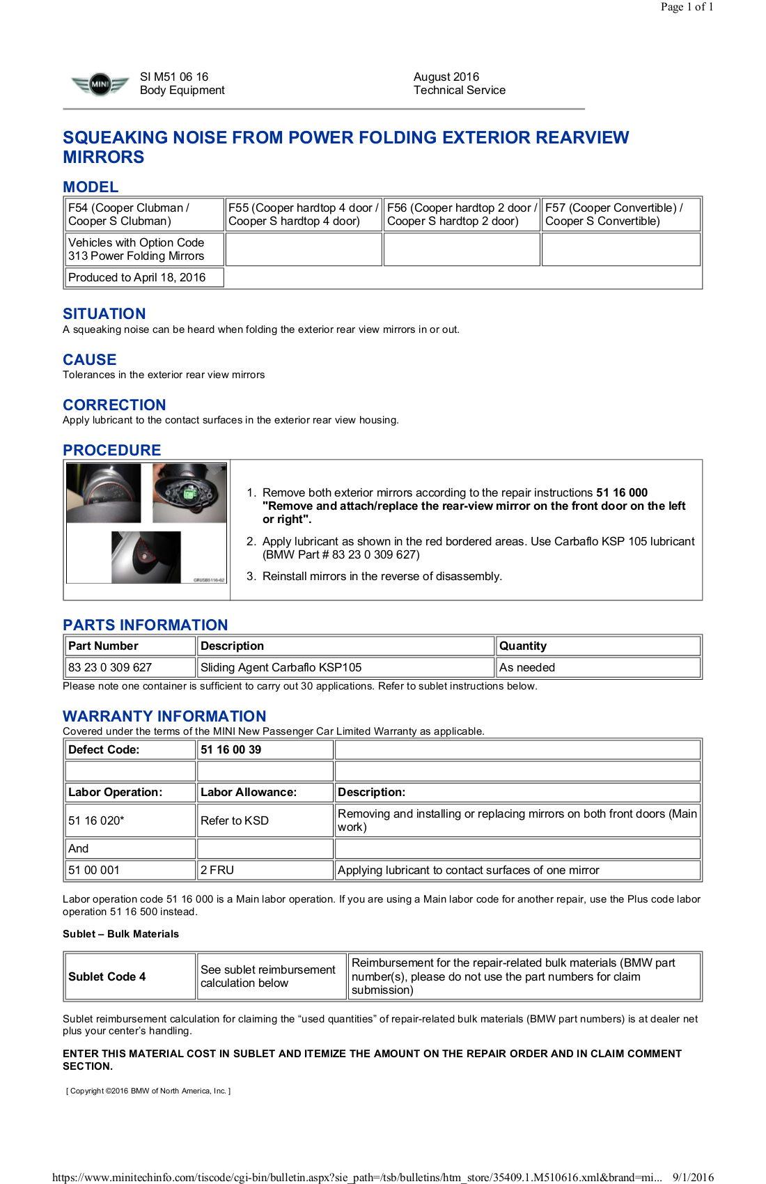 F56 Service Bulletin Master List - North American Motoring