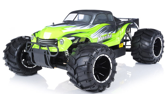 Monster Truck Radio Car 1/5th Giant Scale AA Green Exceed RC