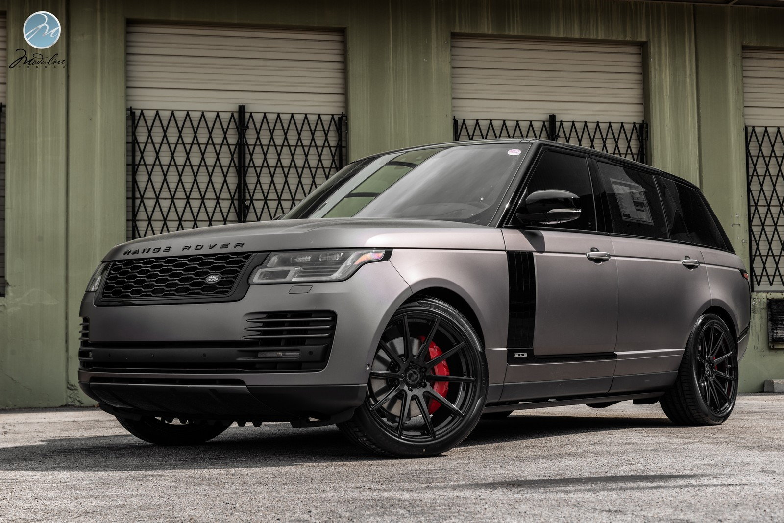 "Matte Range Rover >> 2018 Range Rover LWB Matte Grey   22"" Modulare B15 - Teamspeed.com"