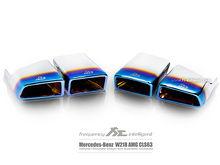 Fi Exhaust for Mercedes-Benz AMG W218 CLS63 - Titanium Blue Quad Tips.