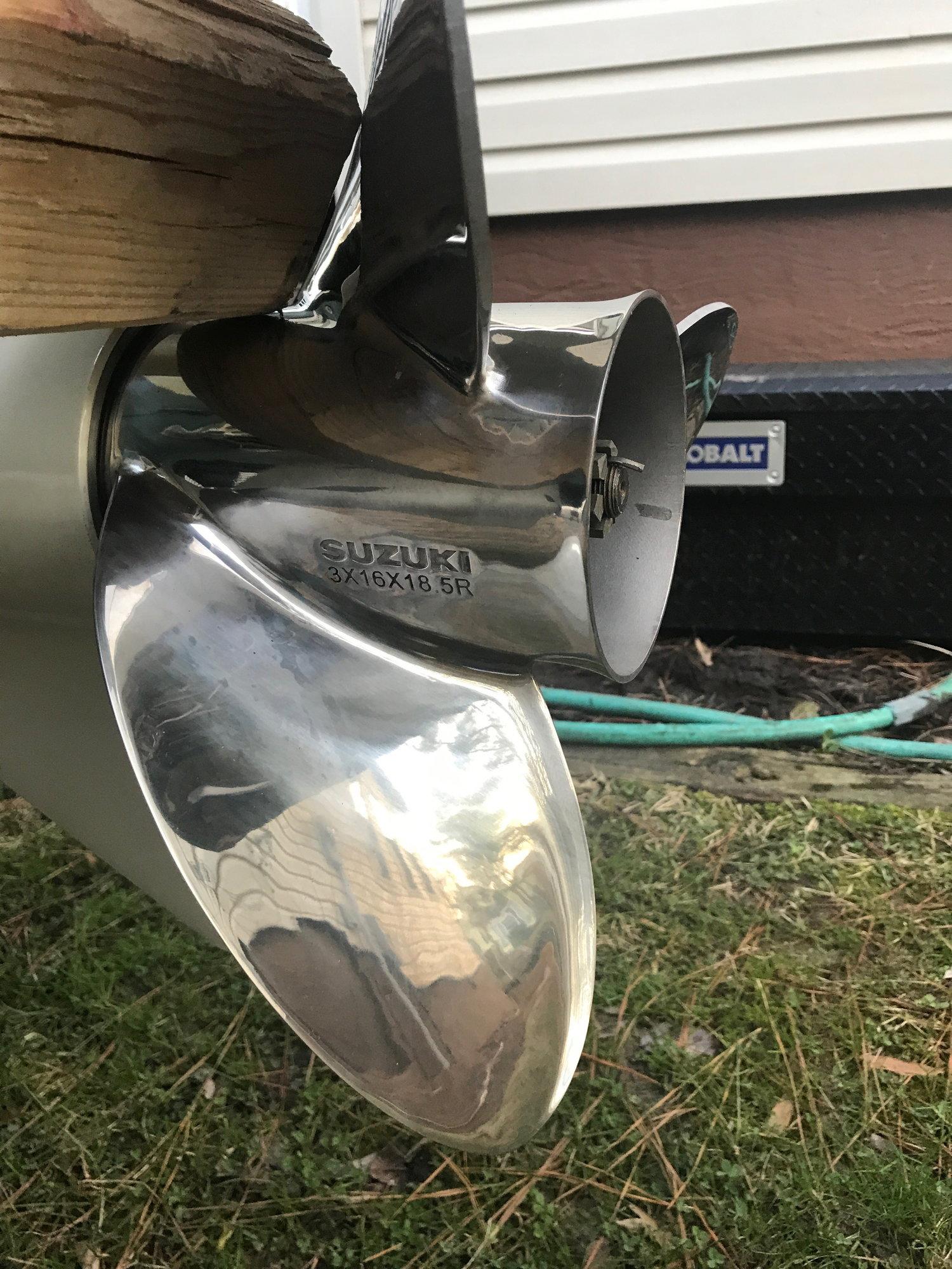 Suzuki 3x16x18 5 Prop Pair (R&L) - The Hull Truth - Boating