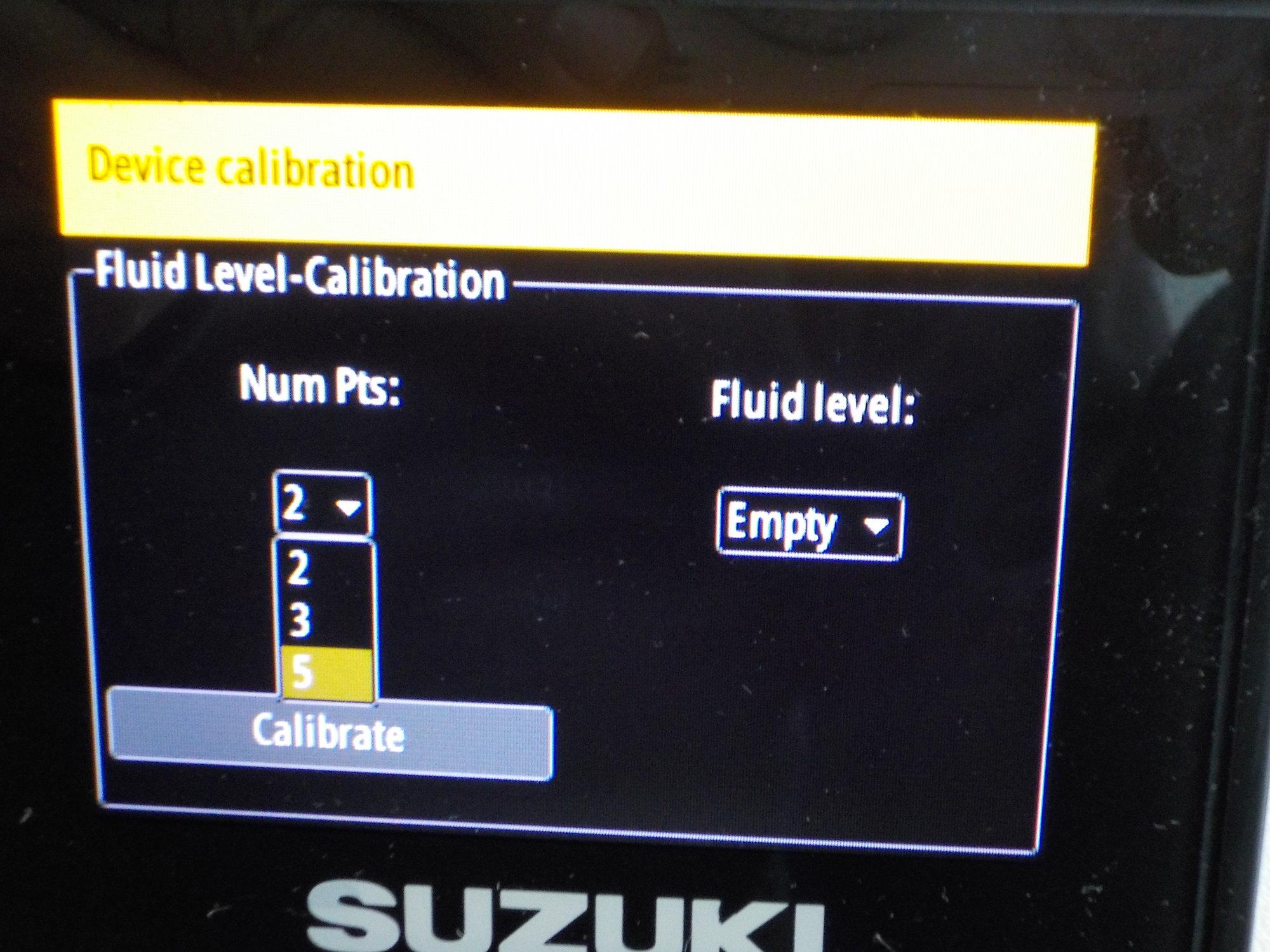 Suzuki C10 and Simrad fuel level calibration pictorial - The