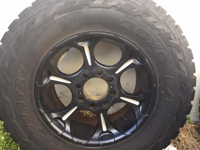 F250 F350 37x12 50x20 Toyo Tires Fuel Wheels Reduced