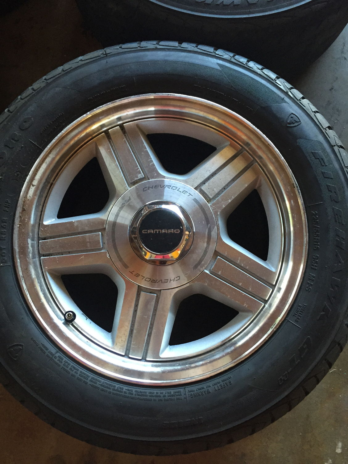 California Stock 1992 Camaro 16 Inch Rims Tires Third
