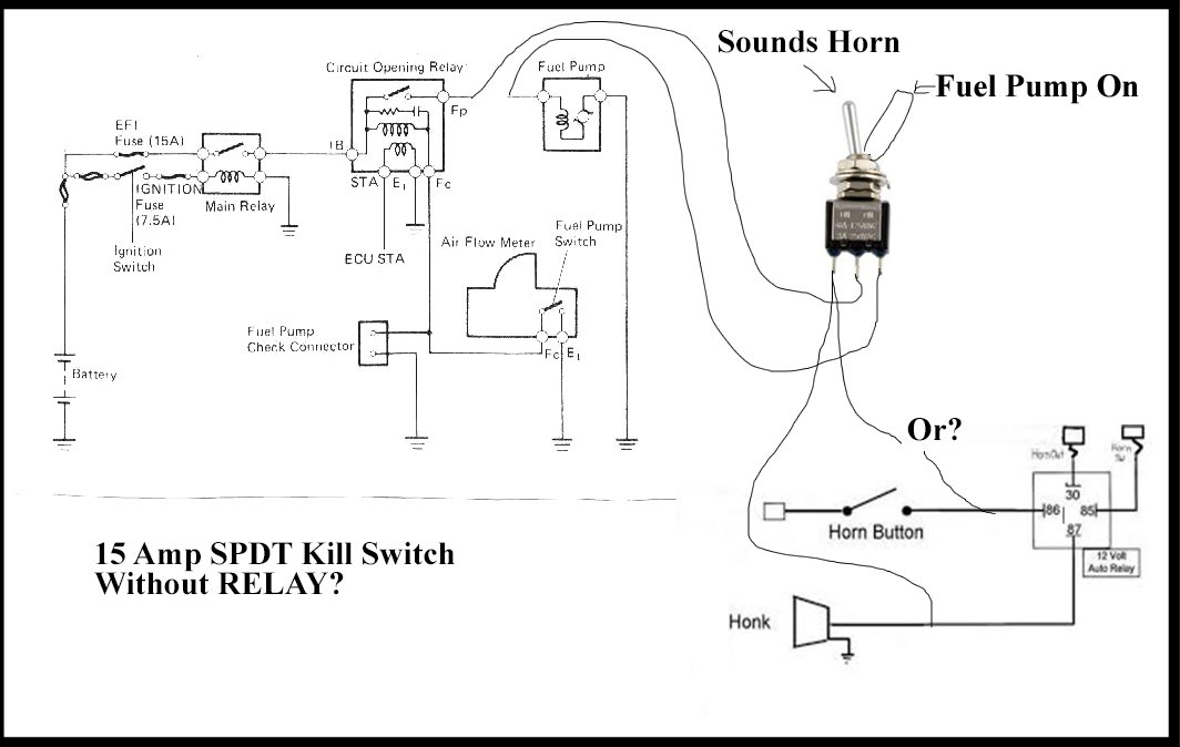Incredible Spdt Fuel Pump Horn Kill Switch Yotatech Forums Wiring 101 Ferenstreekradiomeanderfmnl