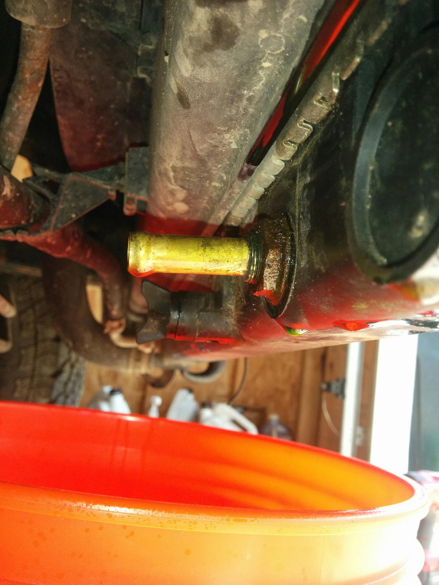 coolant leaking from radiator trans lines, 98 4runner