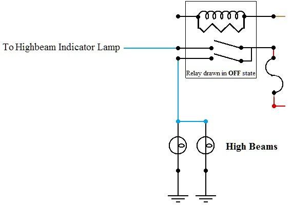 highbeam indicator wiring diagram