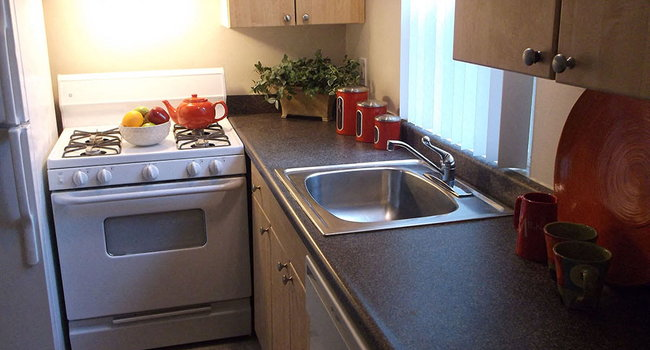 Upgraded flooring in kitchens at Sutterfield Apartment Homes in Providence, RI
