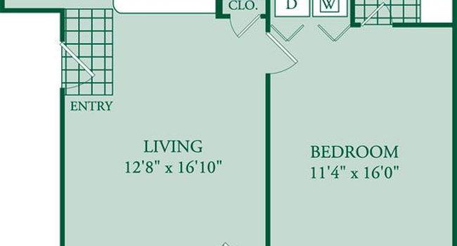 1 Bedroom / 1 Bath / 694 Sq.Ft.