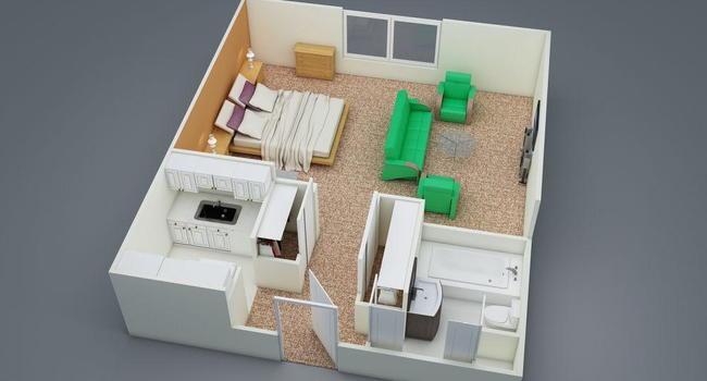 0 Bedroom / 1 Bath / 440 Sq.Ft.